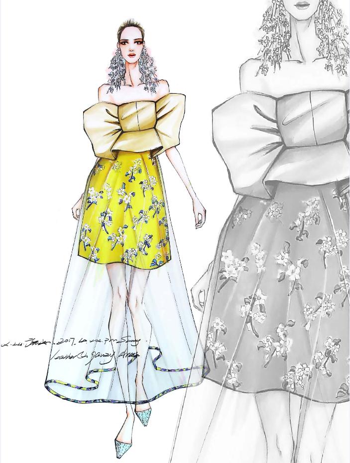 《时装画手绘基础系列课程》服装手绘 设计【名师屋服装工作室】