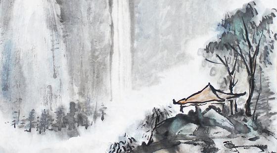 【国画教程】18集,国画山水的步骤画法(1-3)