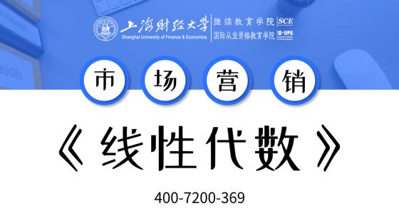 上海財經大學自考市場營銷專業課《線性代數(經管類)》